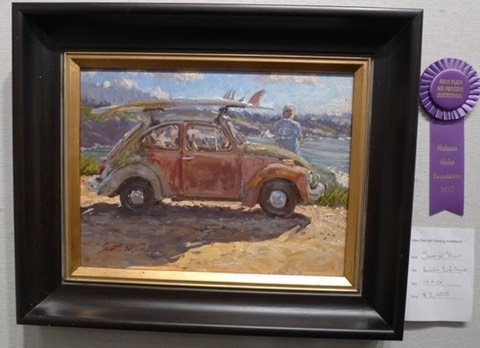 2013 Makana Aloha award Maui Plein Air winner, Honolua Surf Check, by Scott Prior