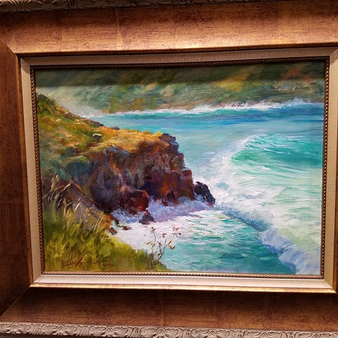 2017 Makana Aloha award  winner Maui Plein Air, Convergence, by Richard J. Delanty