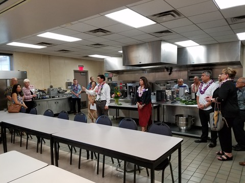 Blessing of the temporay Research and test kitchen