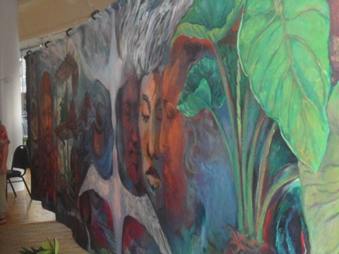 The healing side of the completed two sided mural