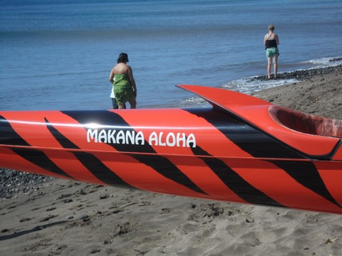 The Lahaina Canoe Club generously named their new canoe after The Makana Aloha Foundation