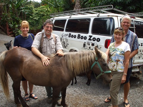 The Makana Aloha board with Boo Boo Zoo Maui founder, Sylvan Schwab (2009)