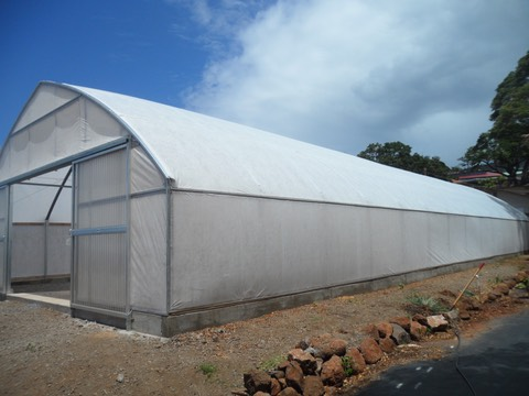 The new greenhouse exterior at Lahainaluna High School
